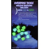 Enterprise Tackle - Sweetcorn Hair Stop Mini Niteglow Blue & Green Mixed