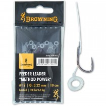 Carlige Legate Browning No.10 10cm 0.25mm Feeder Leader Method Power