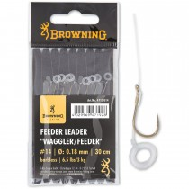 Carlige Legate Browning No.18 30cm 0.18mm Feeder Leader Waggler/Feeder