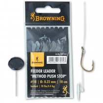 Carlige Legate Browning No.16 10cm 0.18mm Feeder Leader Method Push Stop