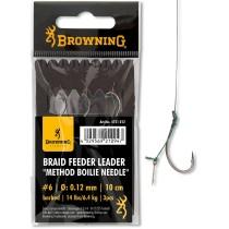 Carlige Legate Browning Braid Feeder Leader Method Boilie Needle