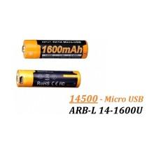 Acumulator + Micro-USB Fenix 14500 - 1600mAh - ARB-L 14-1600U