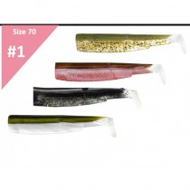 FIIISH BLACK MINNOW 70 SET SHAD NATURAL 4 x 7CM