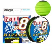 Fir Owner Kizuna X8 Broad Chartreuse 135m (0,10; 0,12; 0,13; 0,15; 0,17; 0,19mm)
