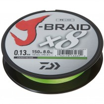 Daiwa Fir Textil J-Braid X8 Chartreuse 150mt. 0,10/6,0kg