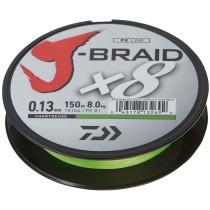 Daiwa Fir Textil J-Braid X8 Chartreuse 150mt. 0,13/8,0kg