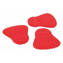 Fox Rage Power Grip Baits Fins Cat, Red, 10buc/set