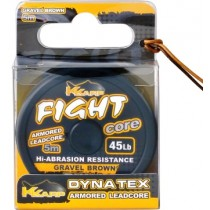 Fir Leadcore K-Karp - Fight ArmaCore Camou Brown 45Lb/5mt