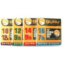 Montura Guru Feeder Hair Rig Carlig 8buc/0,19mm Nr.16