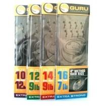 Montura Guru Method Hair Rig Carlig 0,25mm/8buc./plic Nr.16