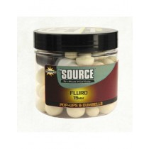 Dynamite Baits Pop-Ups & Dumbells 15mm - Source White Fluro