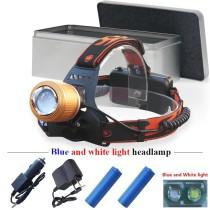 Lanterna Metalica Frontala Target Light + 2 Acumulatori