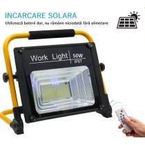 Proiector IP67 cu Acumulator și Încărcare solară 50W