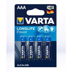 "Varta - Baterie Alkalina ""Longlife Power"" AAA (R3) 4buc"