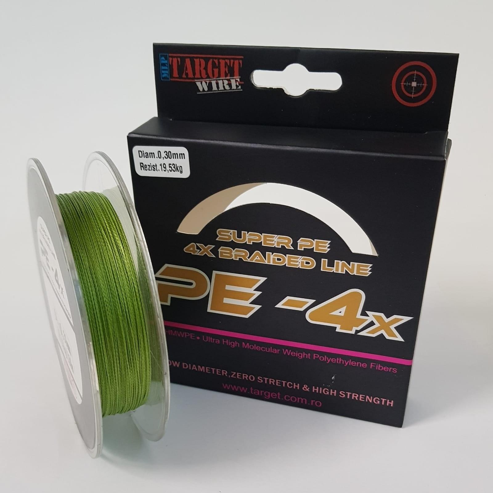 Target Wire 4x Fir Textil Dark Green 150mt